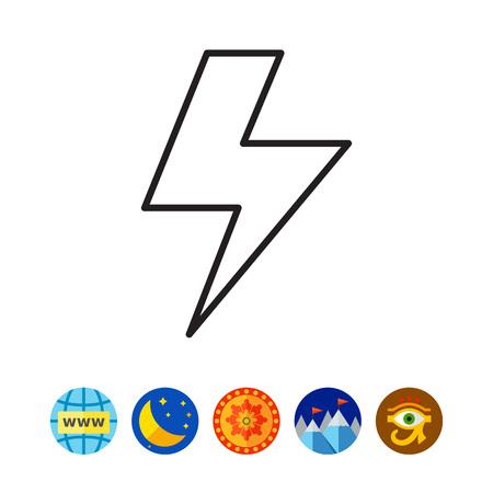 Lightning icon vector illustration