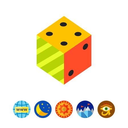 argumentation: Logic Flat Icon vector illustration