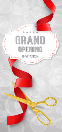 Grand Opening Invitation Lettering on Tag