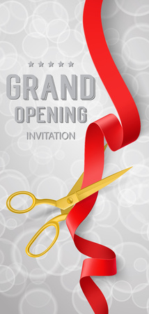 Grand Opening Invitation Lettering, Ribbon