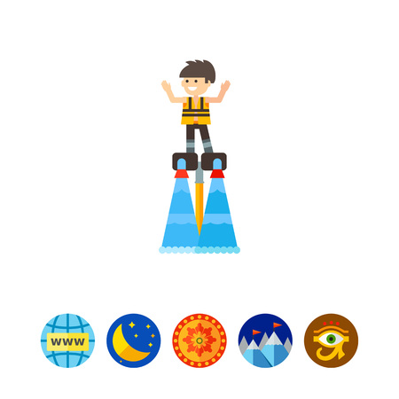 Man on Flyboard Icon