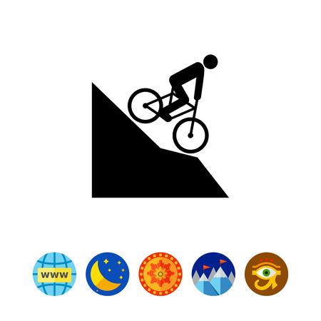 Man Riding Mountain Bike Icon