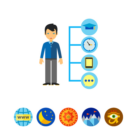 Management Symbols Icon Illustration
