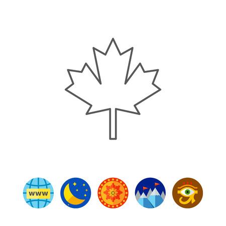 tree isolated: Maple leaf icon