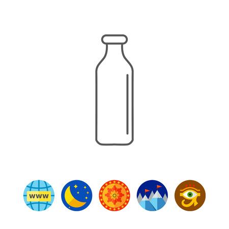 milkman: Milk bottle Illustration