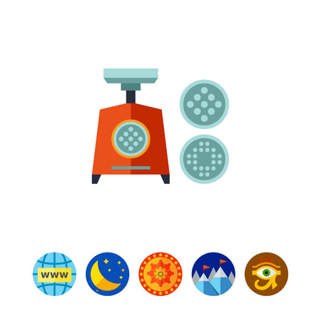 mincing: Mincing Machine Icon Illustration