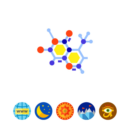 Molecular Model as Science Concept Icon Illustration