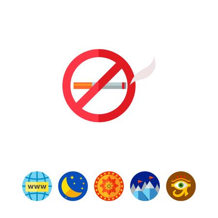 No Smoking Sign Icon Illustration