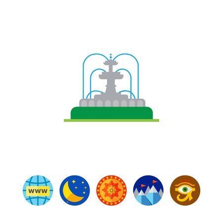 Park fountain icon