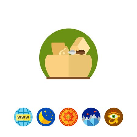 Parmesan Cheese and Knife Icon