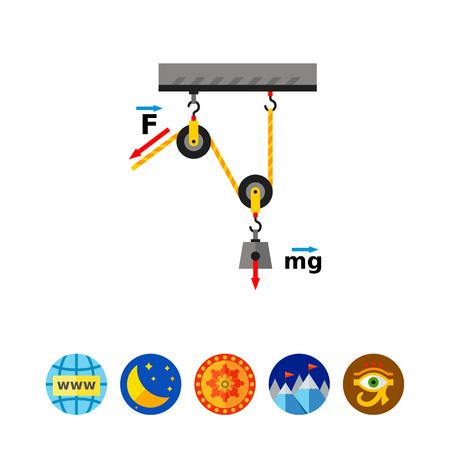 Physics Flat Icon Ilustrace