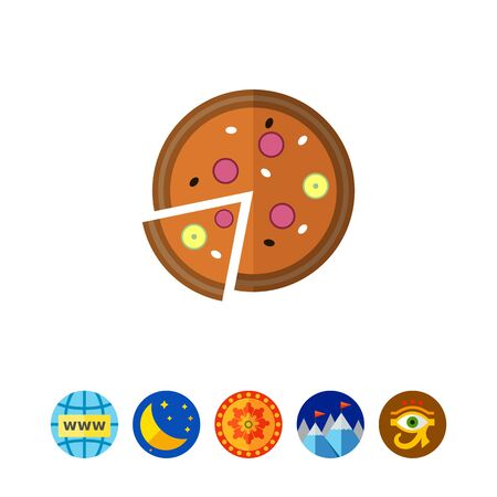 Pizza icon Illusztráció