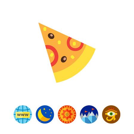 Pizza slice icon Illusztráció