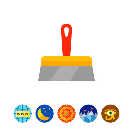 to mend: Plastering trowel icon