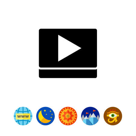 viewing: Play sign simple icon