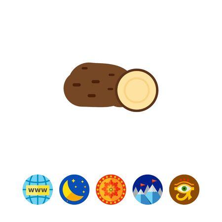 Potato tubers icon Illustration