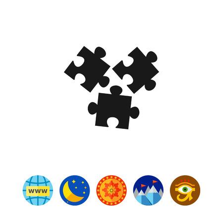 분리 된 퍼즐 요소의 벡터 아이콘