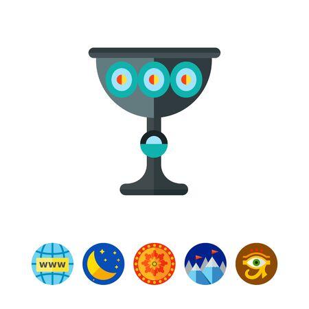 Religion Wine Cup Icon Illustration
