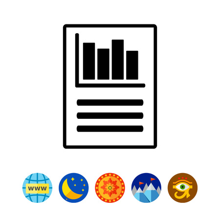 Report simple icon Illustration