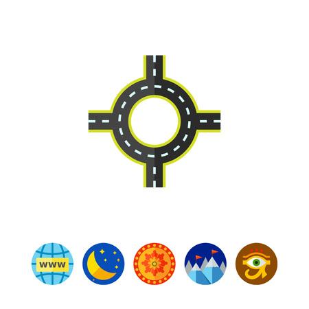 ring road: Ring Road Vector Icon Illustration