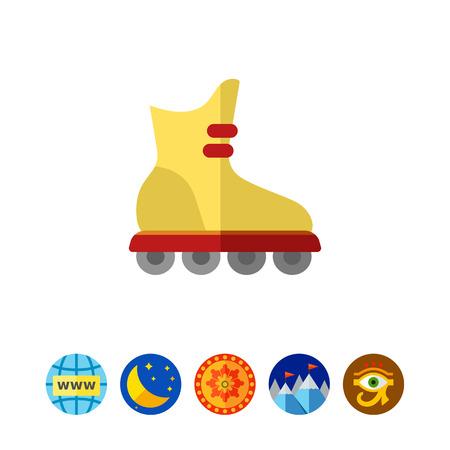 roller skating: Roller blade icon