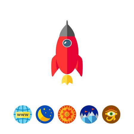 Rocket icon Illustration