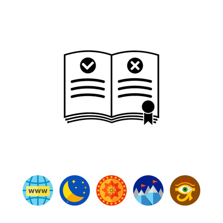 reading app: Rules Simple Icon