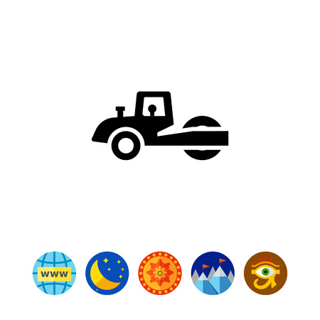 roller: Road roller icon