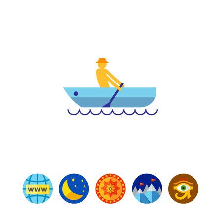 Rowing man
