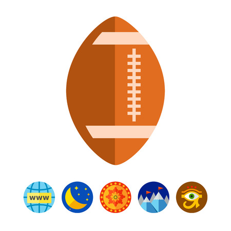 Rugbybal icoon Stock Illustratie