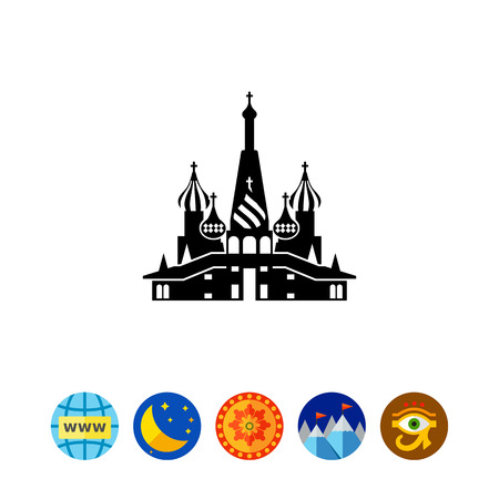 moscow city: Icon of Saint Basil Cathedral Illustration