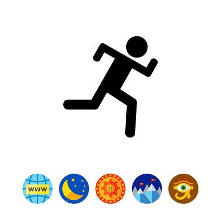pastime: Icon of running man silhouette