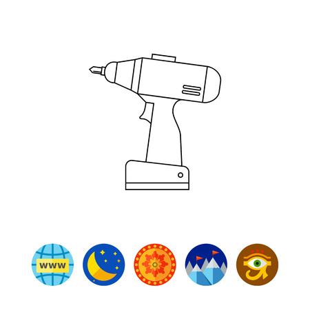 Screw Gun Icon