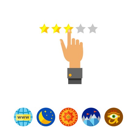 Selecting Stars as Rating Concept Icon