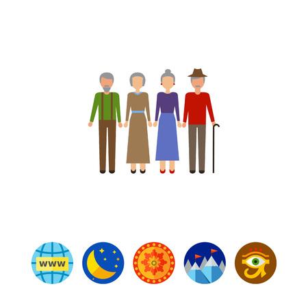 earrings: Senior couples