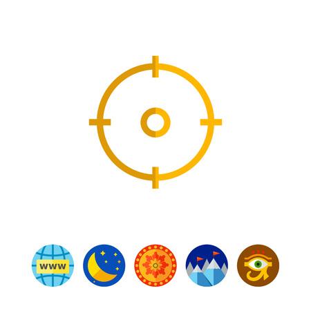 Sight icon in line illustration design.