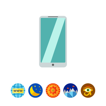 touchscreen: Silver smartphone