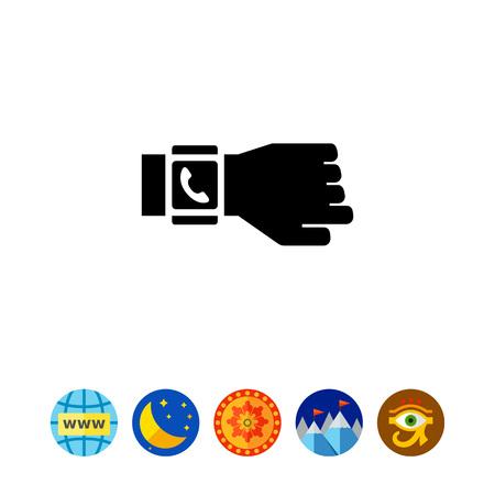handset: A Smartwatch on hand. Illustration
