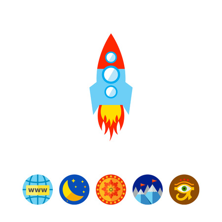 Space rocket vector illustration Illustration