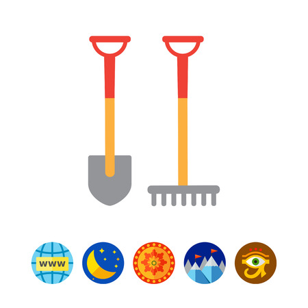 raking: Spade and rake icon