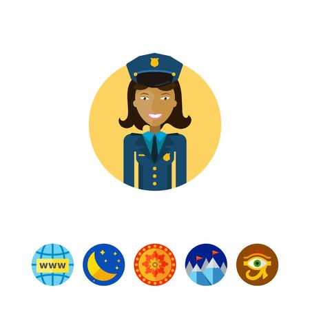 policewoman: Smiling policewoman vector illustration Illustration