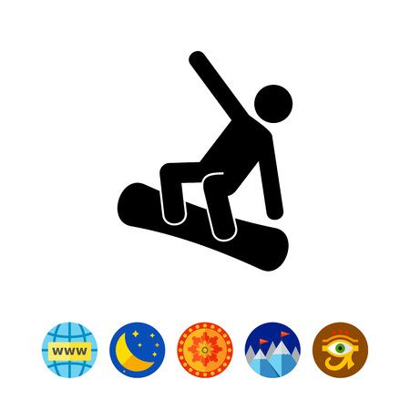 Snowboarding Man Icon