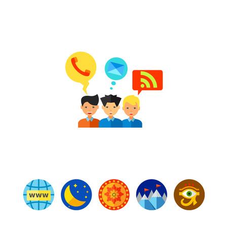 Social Media Flat Icon vector illustration
