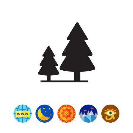 針葉樹林の符号ベクトル イラスト  イラスト・ベクター素材