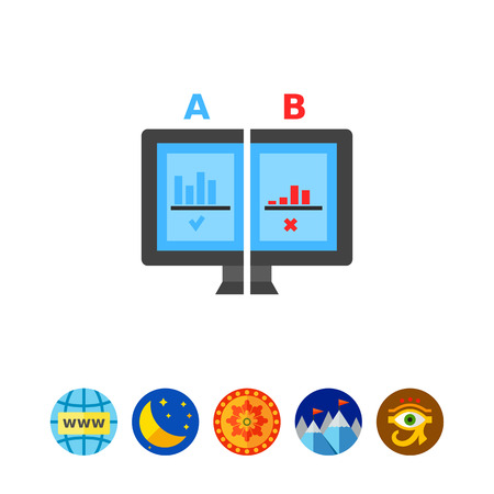 selected: Split test flat icon Illustration