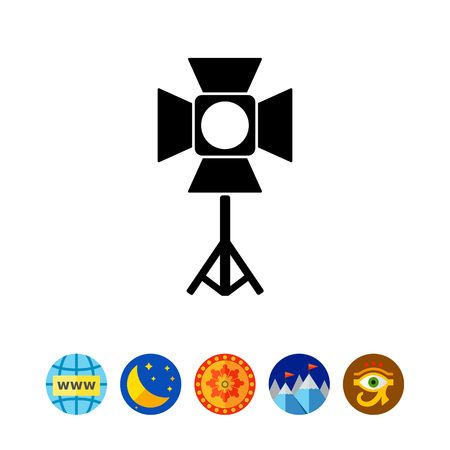 Spotlight simple icon