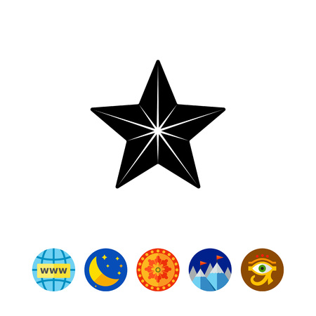 celebrities: Star simple icon vector illustration