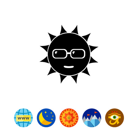 spending: Sun in Sunglasses Icon