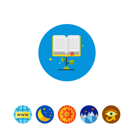 Study Concept Icon with Book Illustration