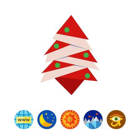 tree isolated: Stylized Christmas tree icon